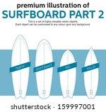 blank surfboards template  part ...   Shutterstock .eps vector #159997001