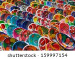 colorful mayan bowls for sale | Shutterstock . vector #159997154