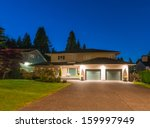 big luxury house with two... | Shutterstock . vector #159997949