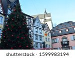 Old Town Streets In Cochem Wit...