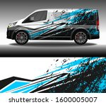 car wrap decal livery design... | Shutterstock .eps vector #1600005007