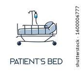 hospital patient's bed... | Shutterstock .eps vector #1600006777