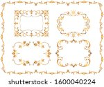 vintage golden ornament set....   Shutterstock .eps vector #1600040224