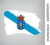 flag of galicia brush strokes....