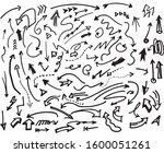 hand drawn arrow art and... | Shutterstock .eps vector #1600051261