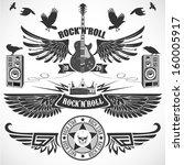 Rock N \'roll Set Of Symbols...