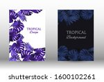 tropic covers set. colorful... | Shutterstock .eps vector #1600102261