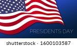president's day celebration. 3d ... | Shutterstock . vector #1600103587