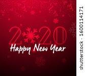 2019 happy new year typography... | Shutterstock .eps vector #1600114171
