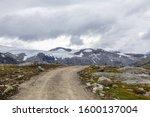 Nature of norway. dirt road in...