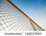 Iron Hain Fence With Sky...
