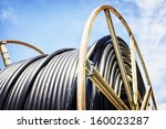 modern cable drum close up at a ... | Shutterstock . vector #160023287