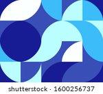 geometric blue pattern of... | Shutterstock . vector #1600256737