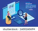 financial management with... | Shutterstock .eps vector #1600260694