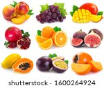 collection of fresh fruits...   Shutterstock . vector #1600264924