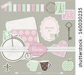 scrapbook design elements... | Shutterstock .eps vector #160030235