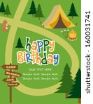 happy birthday invitation | Shutterstock .eps vector #160031741
