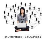 network or social media concept ... | Shutterstock . vector #160034861