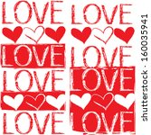 seamless pattern with hearts ... | Shutterstock . vector #160035941