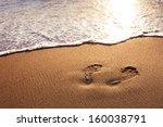 walk on the beach | Shutterstock . vector #160038791