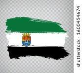 flag of extremadura brush...