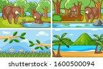 background scenes of animals in ...   Shutterstock .eps vector #1600500094