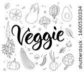big set of hand drawn...   Shutterstock .eps vector #1600530334