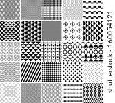 monochrome seamless patterns... | Shutterstock .eps vector #160054121