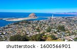 Aerial View  Morro Rock Is A...