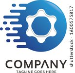 gear logo shape mechanic...   Shutterstock .eps vector #1600575817