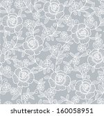 seamless grey abstract floral... | Shutterstock .eps vector #160058951