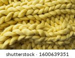 view of the knitted yellow... | Shutterstock . vector #1600639351