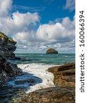 Waves And Rocks At Trebarwith...