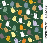 multicolor cats seamless...   Shutterstock .eps vector #160066451