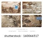 vintage postcards set capri   Shutterstock . vector #160066517