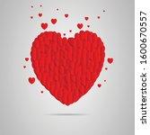 valentines heart. decorative... | Shutterstock .eps vector #1600670557