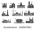 Silhouettes of cities - stock vector