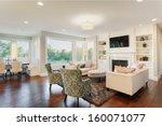 living room in luxury home | Shutterstock . vector #160071077