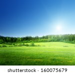 field of grass and perfect sky | Shutterstock . vector #160075679