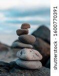 Balanced Rocks On Bray's Coast