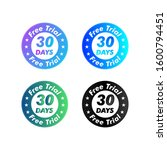 30 days free trial stamp vector ... | Shutterstock .eps vector #1600794451