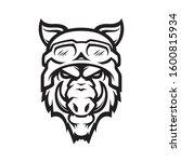 wild hog head mascot  colored... | Shutterstock .eps vector #1600815934