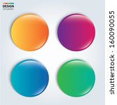 four colorful glossy badge.... | Shutterstock .eps vector #160090055