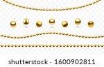 Christmas Garlands Golden Beads....