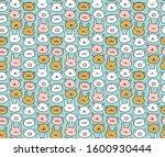 seamless children animals print.... | Shutterstock .eps vector #1600930444