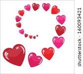 valentine's background with... | Shutterstock . vector #160093421