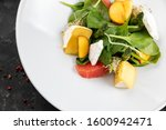 green salad with cheese and...   Shutterstock . vector #1600942471