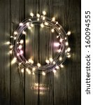 glowing christmas wreath made...   Shutterstock .eps vector #160094555
