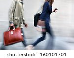 business people at rush hour... | Shutterstock . vector #160101701