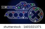 glossy white mesh stop tanks... | Shutterstock .eps vector #1601021371